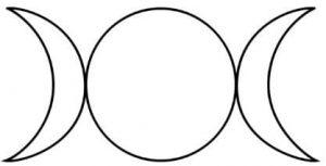 Símbolos paganos: Triple Luna